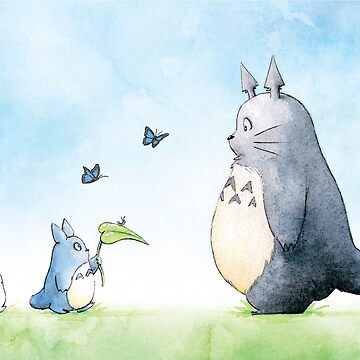 Totoro with Butterflies  by LaraFrizzell