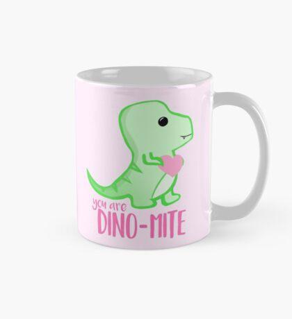 You're DINO-mite! Dinosaur Pun - Valentines Pun - Anniversary Pun - Funny - Love - T-rex Mug