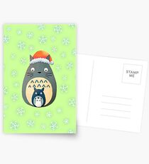 Totoro Christmas Postcards
