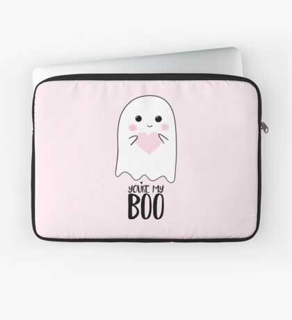You're my BOO - Valentines Pun - Anniversary Pun - Birthday Pun - Ghost Pun - Love - adorable - Ghost - Halloween Laptop Sleeve