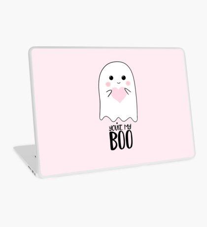 You're my BOO - Valentines Pun - Anniversary Pun - Birthday Pun - Ghost Pun - Love - adorable - Ghost - Halloween Laptop Skin