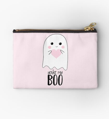You're my BOO - Valentines Pun - Anniversary Pun - Birthday Pun - Ghost Pun - Love - adorable - Ghost - Halloween Zipper Pouch