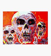 Neon Skulls - dark side of soul Photographic Print
