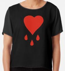Pirate's Bloody Heart Chiffon Top