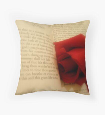 Sonnets Throw Pillow