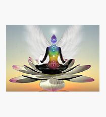 Lotus chakra angel Photographic Print