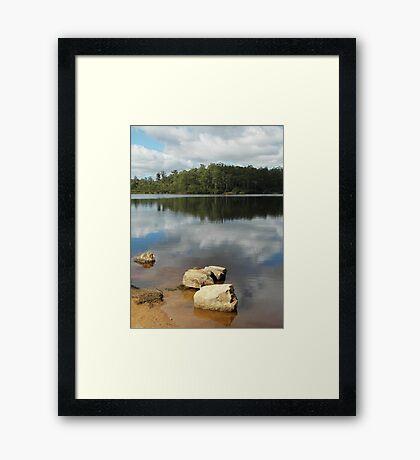 Reflections on Lake Kara Framed Print