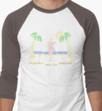 """Let's Talk Dirty In Hawaiian"" (faded) Men's Baseball ¾ T-Shirt"