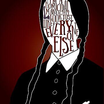 Wednesday Addams by gpunch