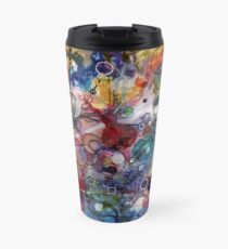 Portals, ink and mixed media on paper composite panel Travel Mug