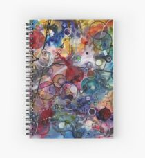 Portals, ink and mixed media on paper composite panel Spiral Notebook