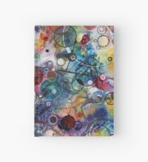 Portals, ink and mixed media on paper composite panel Hardcover Journal