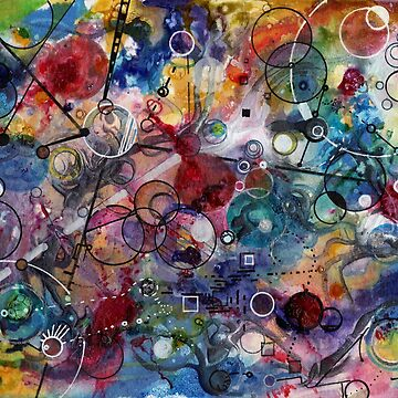 Portals, ink and mixed media on paper composite panel by rvalluzzi