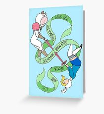 Fionna and Bee 'Swords' Greeting Card