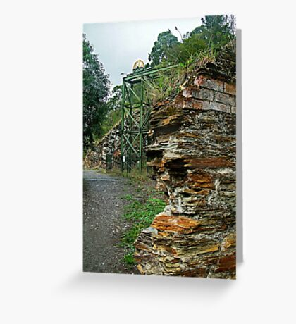 Poppet Head,Long Tunnel Extended Gold Mine, Walhalla Greeting Card