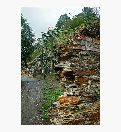 Poppet Head,Long Tunnel Extended Gold Mine, Walhalla Photographic Print