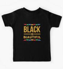 Schwarz ist schön Kinder T-Shirt