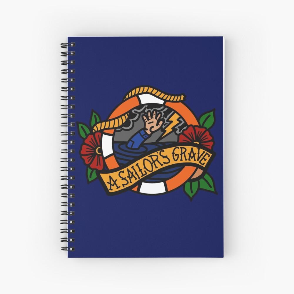 Sailor's Grave - Coast Guard ODU Spiral Notebook