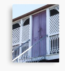 The lilac door Canvas Print
