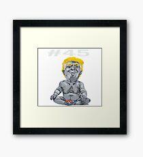 #45 President Trump Framed Print