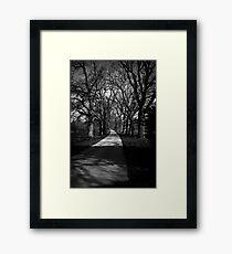 Castle Drive Framed Print