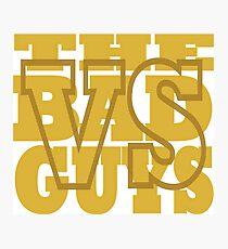 Vs the Bad Guys Logo Photographic Print