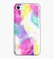 Girly bright pastel watercolor brush strokes iPhone Case/Skin