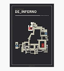 Counter-Strike de_inferno with white outline Photographic Print