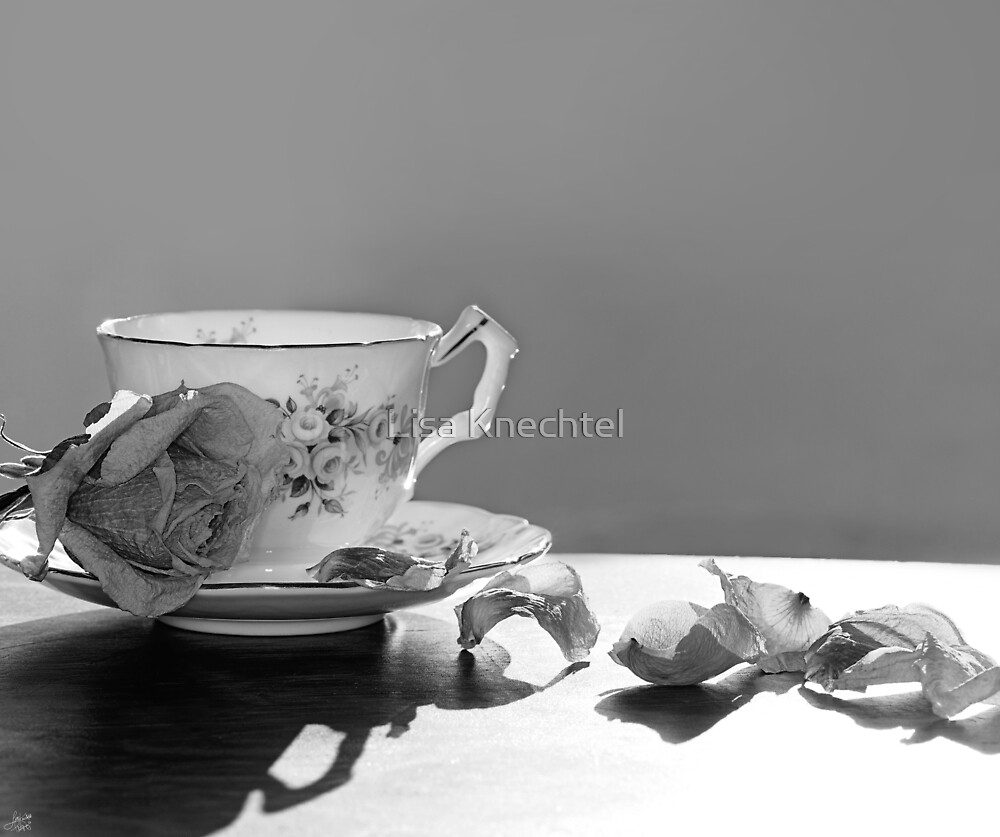 Tea and Roses Still Life by Lisa Knechtel