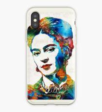 Frida Kahlo Art - Viva La Frida - By Sharon Cummings iPhone Case