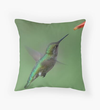 For me New Year means....a lot of hummingbirds Throw Pillow