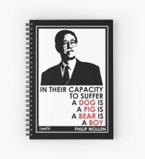 VeganChic ~ Philip Wollen Inspire Spiral Notebook