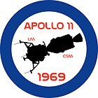 Apollo 11 Retro Patch by Johnny-Boi