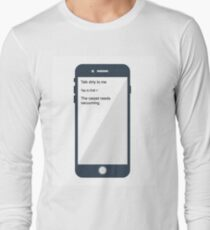 Talk dirty funny quote Long Sleeve T-Shirt
