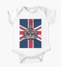 British union jack flag jubilee vintage crown  One Piece - Short Sleeve