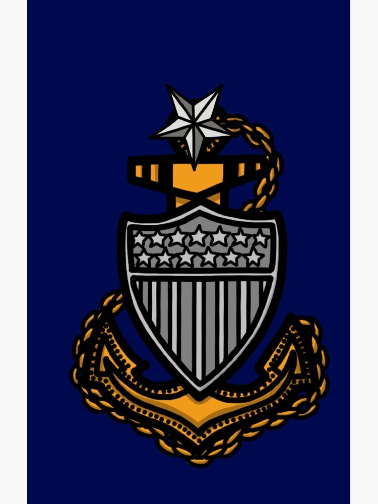 Coast Guard Senior Chief Petty Officer Anchor by AlwaysReadyCltv