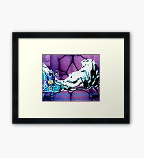 i inhale Framed Print