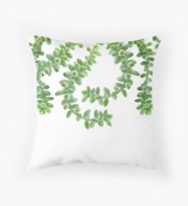Hanging Succulents - Burro's Tail Succulents - Green House Plants Throw Pillow