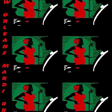 NEW ORLEANS MARDI GRAS: Vintage Warhol Style Print by posterbobs