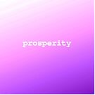Beautiful purple ombre  decorative design with inspirational quotes and sayings. Prosperity  by Angie Stimson