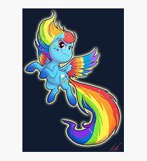 Rainbow Powered Dash Photographic Print
