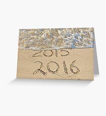 New Year Beach 2016 Greeting Card