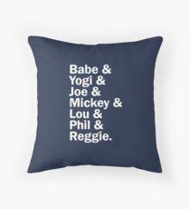 New York Yankee Legends - LIMITED Throw Pillow