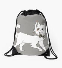 Cat T-shirt Drawstring Bag