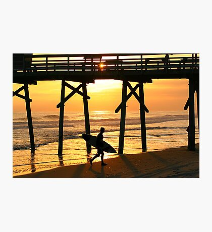 Surfer Silhouette Photographic Print
