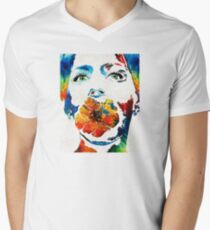 Flower Girl Self Portrait by Sharon Cummings Mens V-Neck T-Shirt