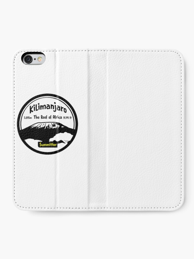 Alternate view of Kilimanjaro Summitter - The Roof of Africa iPhone Wallet