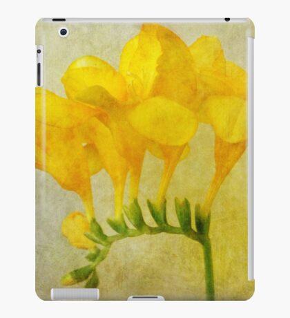 Vintage Yellow Freesia iPad Case/Skin