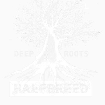 Deep Roots - White Ink - an Aaron Paquette by Halfbreed