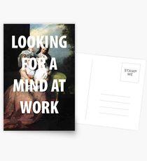 Ein Geist bei der Arbeit Postkarten